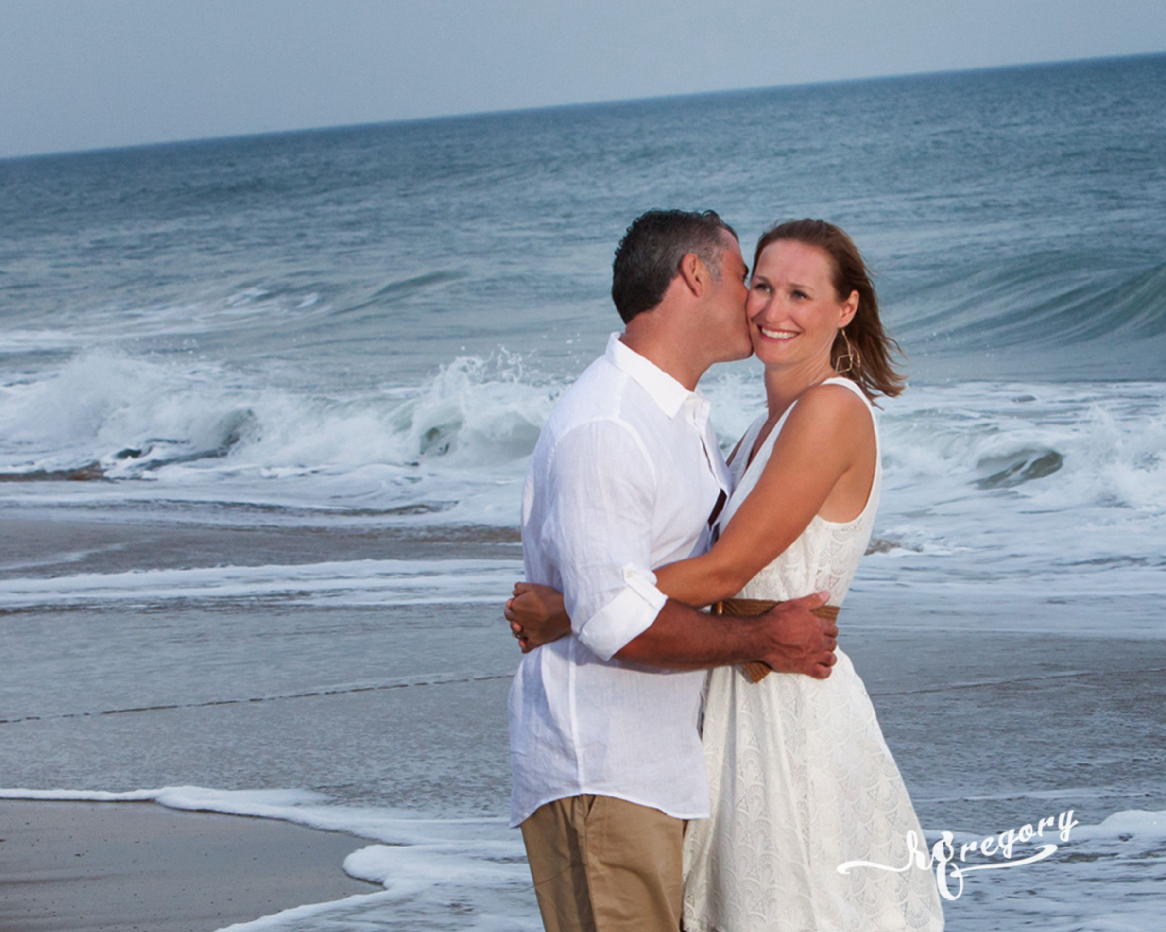 Bristol Sandbridge Beach Virginia Couple Portrait