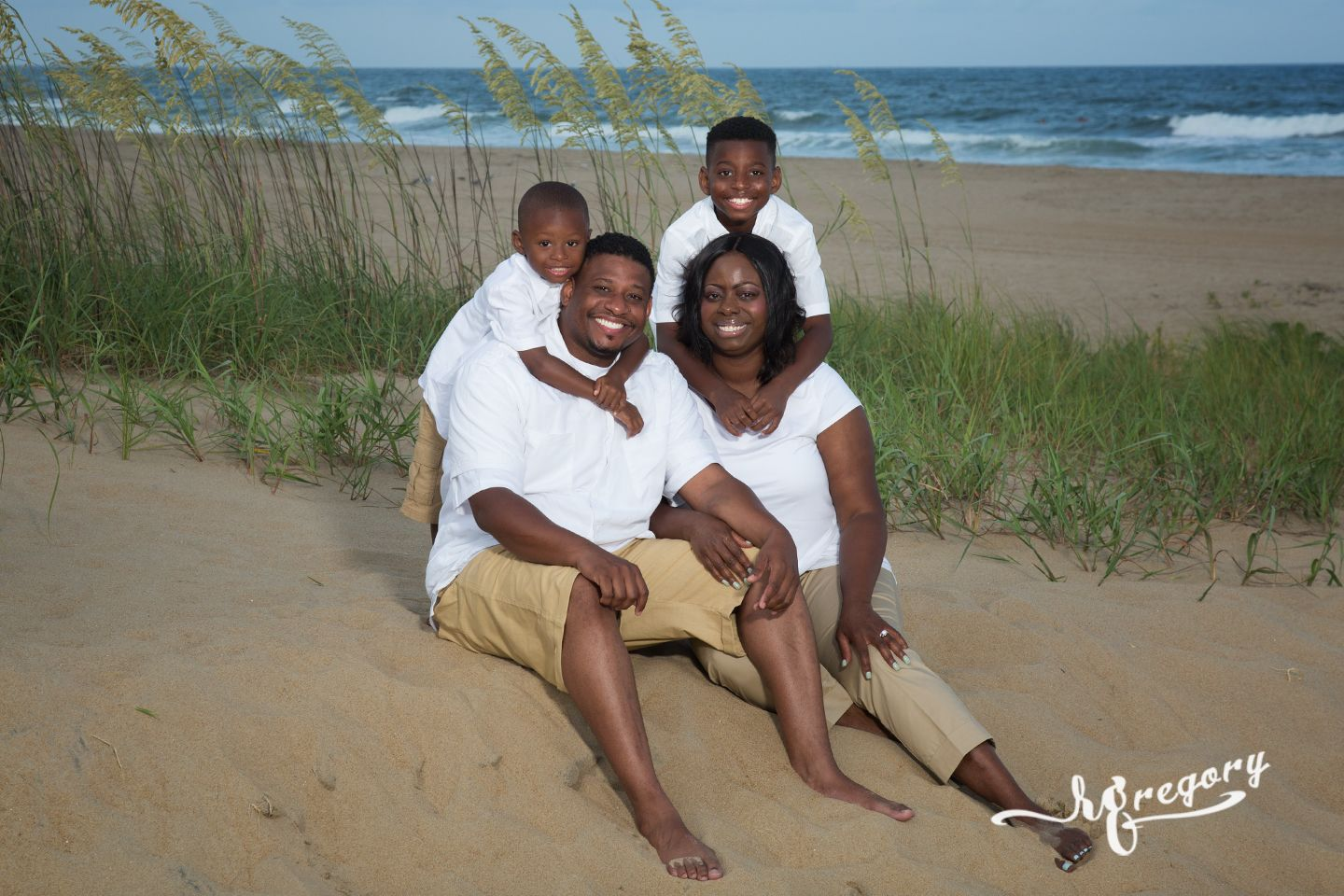 Calhoun family portrait pictures of virginia beach