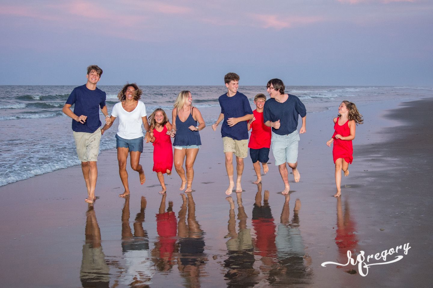 Carbonaro family portrait virginia beach sunset