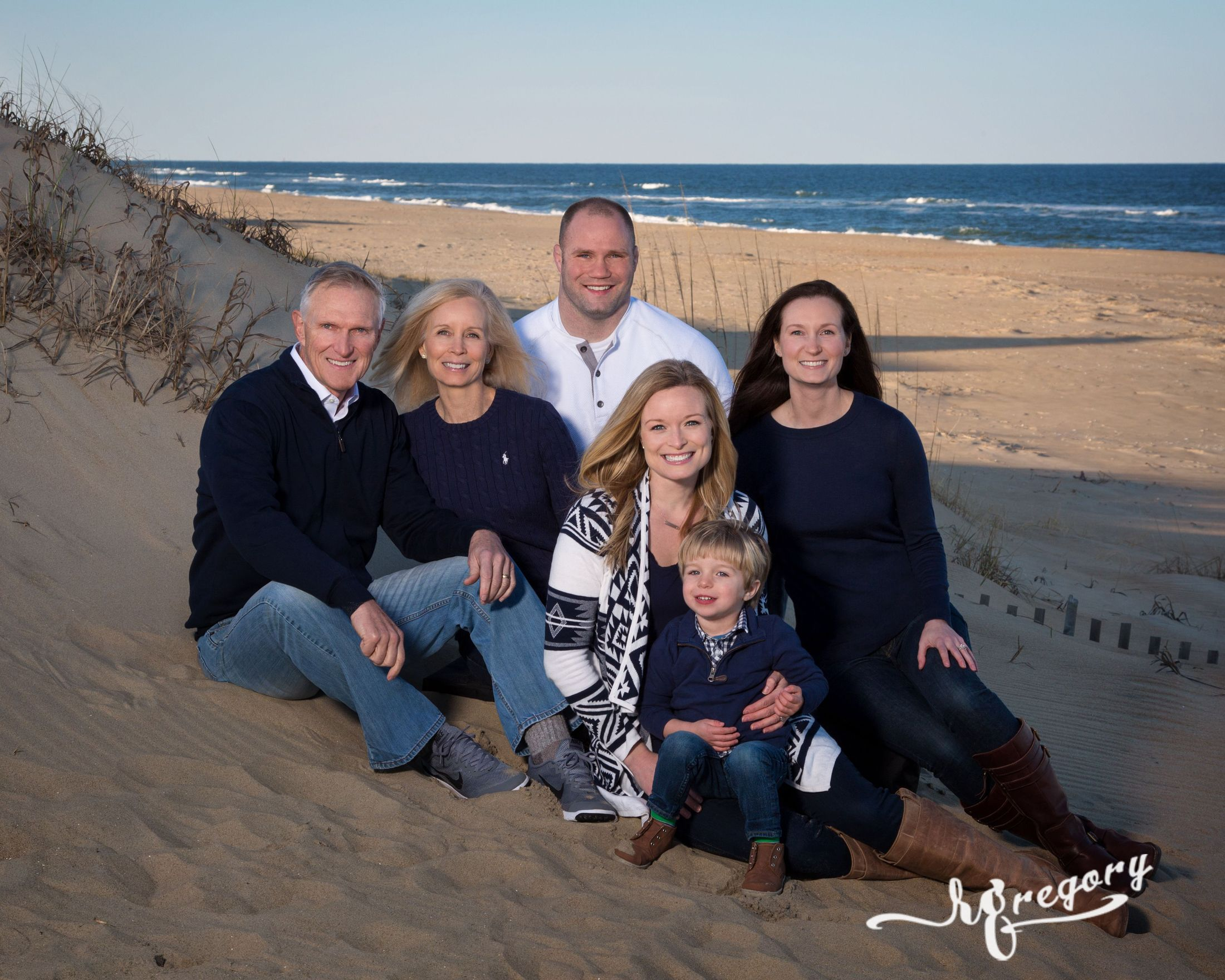 Gilliland family portrait on virginia beach