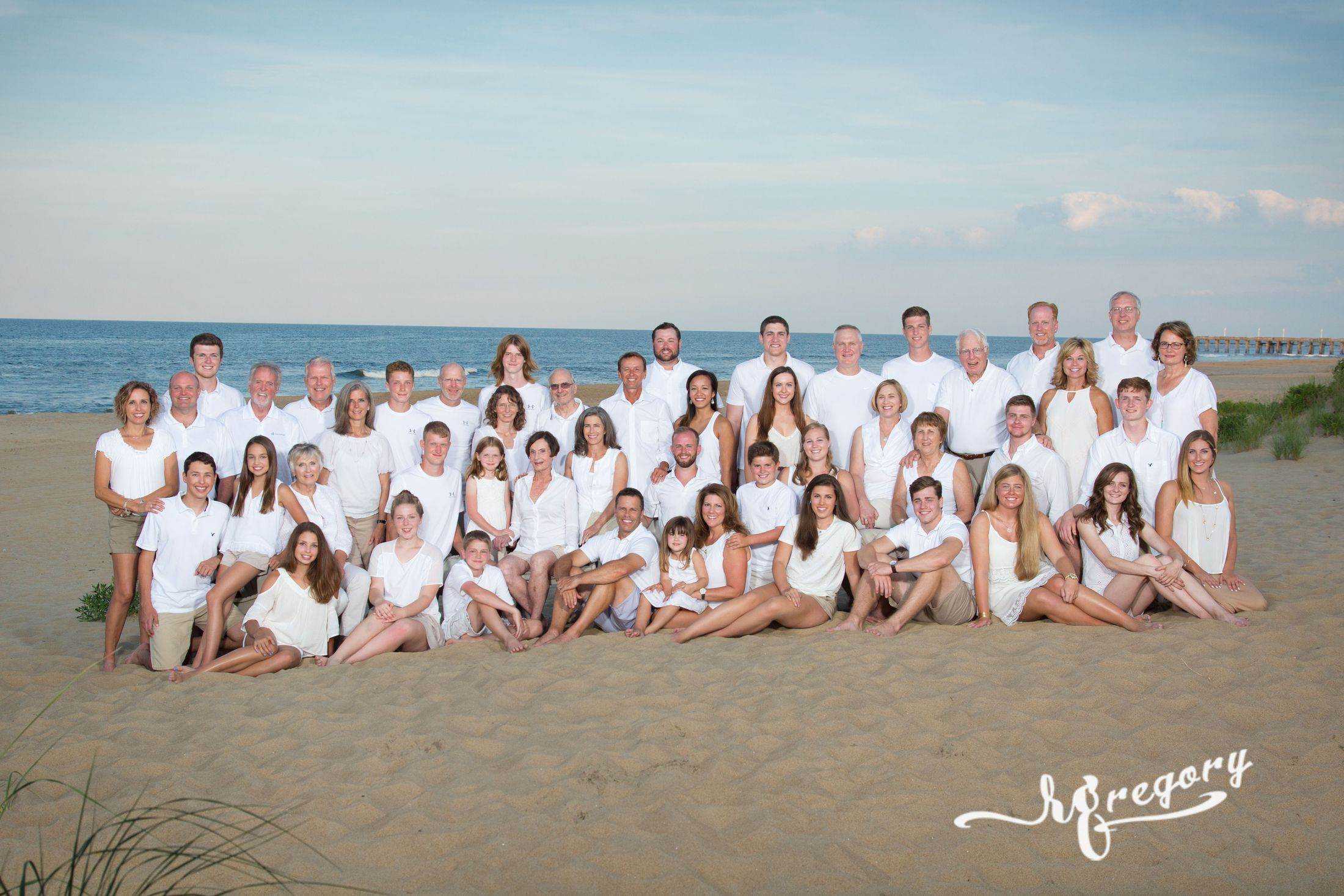 Masterson family reunion beach portrait