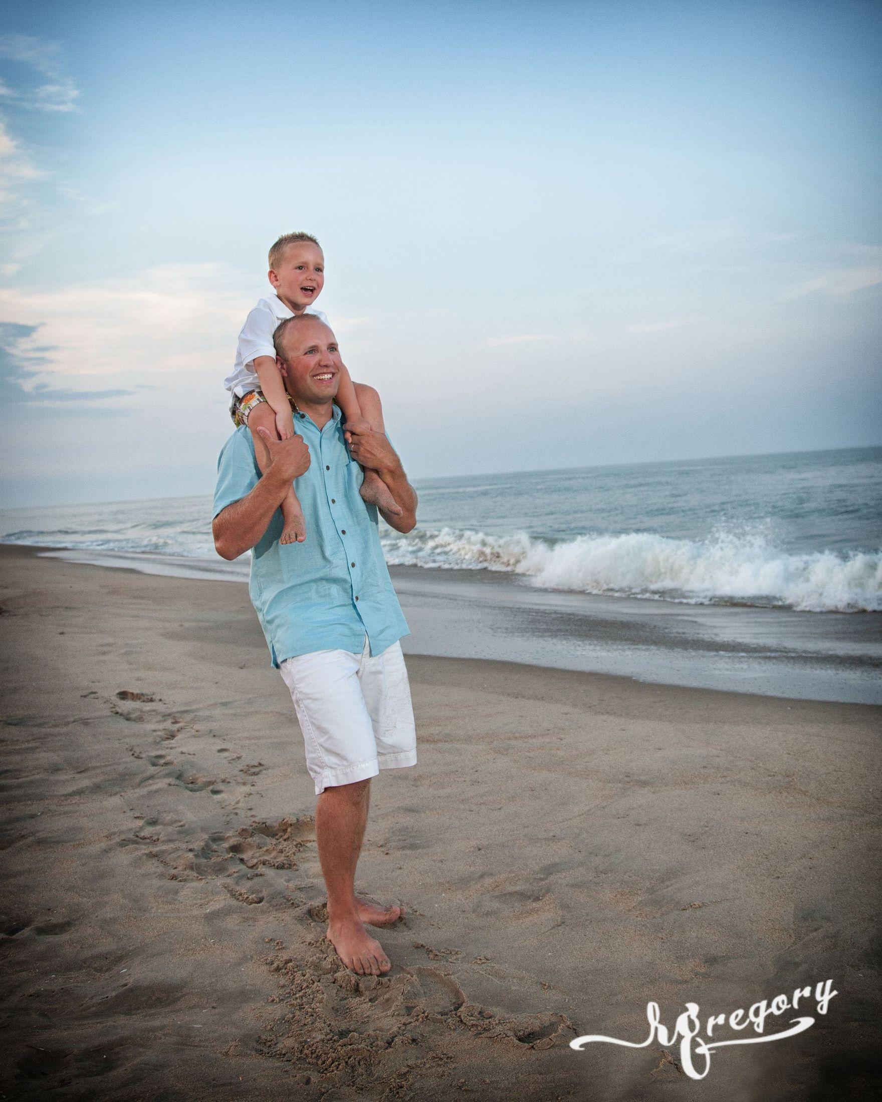 Napekoski father and son child pro beach photo