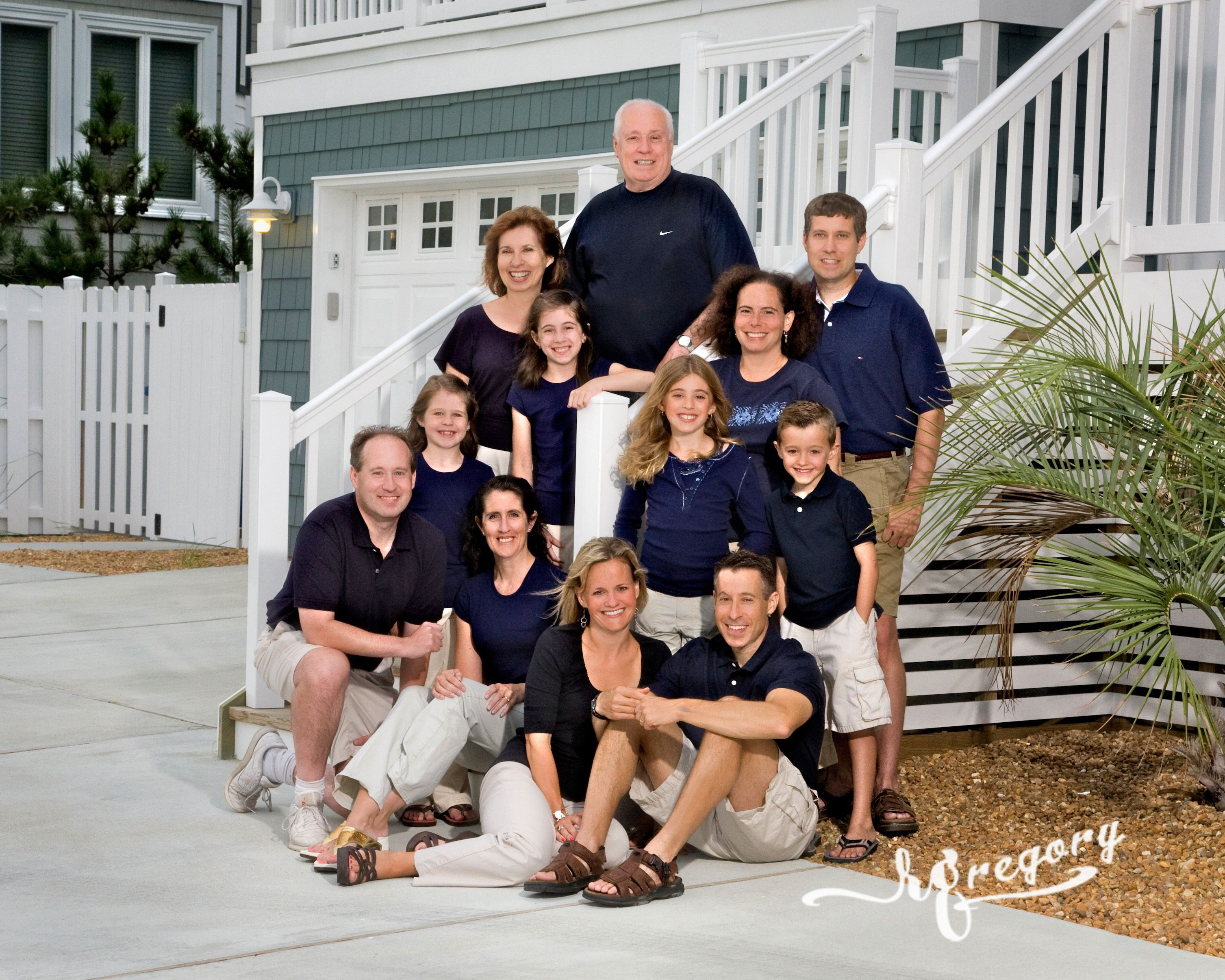Family Portrait at beach house vacation