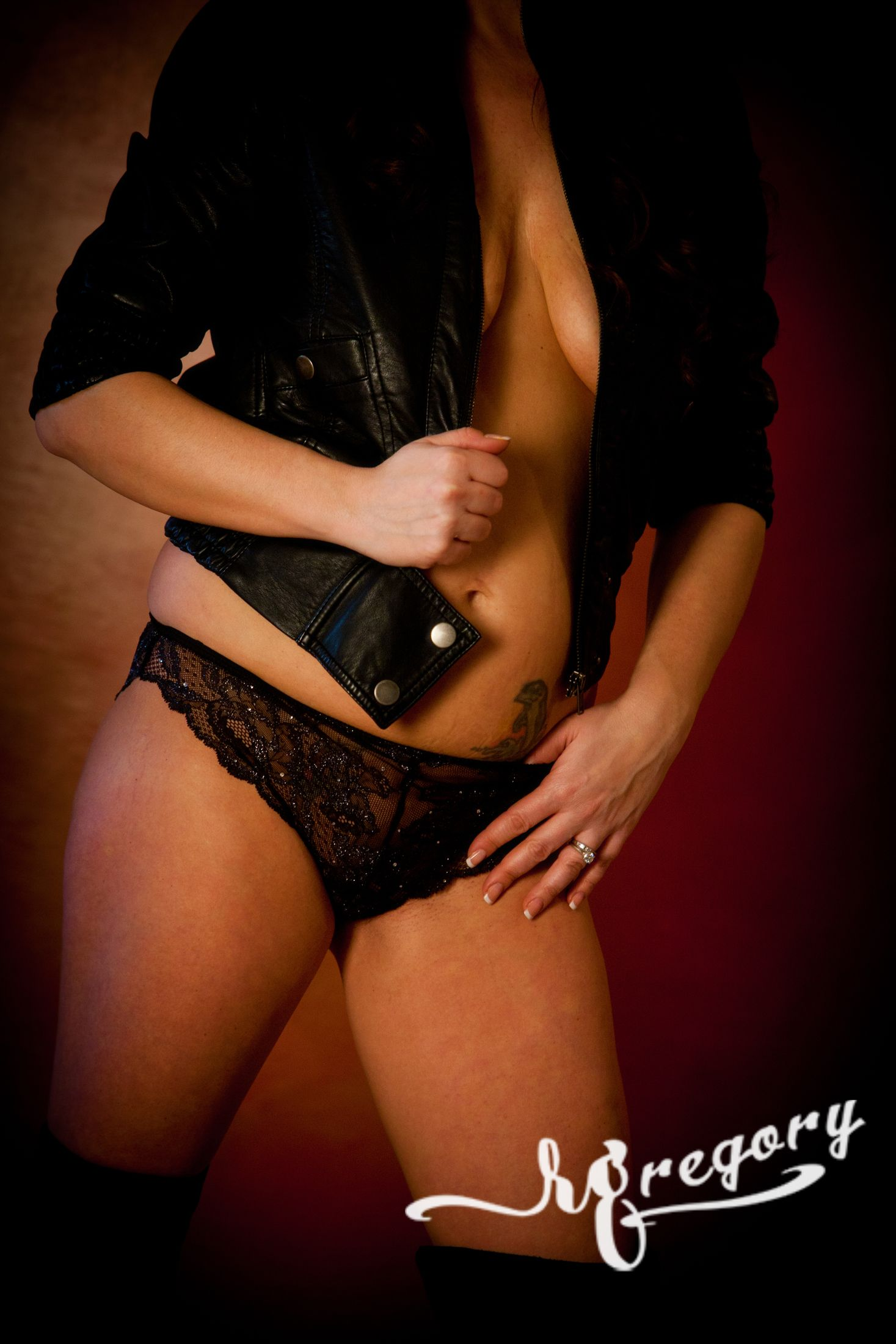 leather and lace boudoir